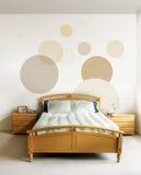 Ontwerp in moderne slaapkamer royalty-vrije stock afbeelding