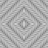 Ontwerp naadloos diamant doorweven patroon Stock Afbeelding