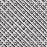 Ontwerp naadloos metaal diagonaal patroon Stock Fotografie