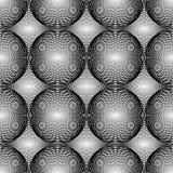 Ontwerp naadloos zwart-wit cirkelpatroon Royalty-vrije Stock Afbeelding
