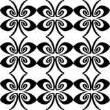 Ontwerp naadloos zwart-wit decoratief patroon Royalty-vrije Stock Foto's