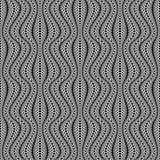 Ontwerp naadloos zwart-wit gestreept patroon Royalty-vrije Stock Foto