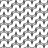 Ontwerp naadloos zwart-wit golvend patroon Royalty-vrije Stock Afbeelding
