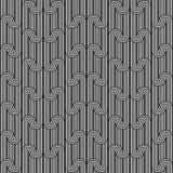 Ontwerp naadloos zwart-wit golvend patroon Royalty-vrije Stock Foto's