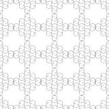 Ontwerp naadloos zwart-wit golvend patroon Stock Foto