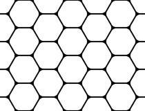 Ontwerp naadloos zwart-wit hexagon patroon Stock Afbeeldingen