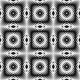 Ontwerp naadloos zwart-wit vierkant patroon Stock Fotografie