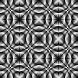 Ontwerp naadloze trellised zwart-wit patroon Stock Afbeelding