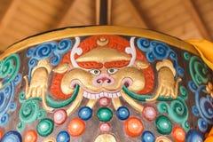 Ontwerp op Tibetaans Gebedwiel Royalty-vrije Stock Afbeelding