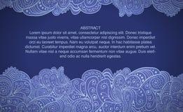 Ontwerp tamplate met abstracte bloemenachtergrond Royalty-vrije Stock Foto