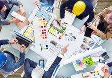 Ontwerp Team Planning voor een Nieuw Project royalty-vrije stock afbeeldingen