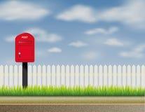 Ontwerp van abstracte Engelse, Britse brievenbus, brievenbus Royalty-vrije Stock Fotografie