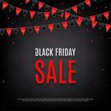 Ontwerp van affiche van Black Friday-verkoop Stock Fotografie