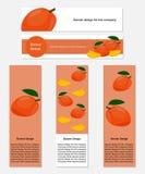 Ontwerp van Banners met Yummy Mango Royalty-vrije Stock Fotografie