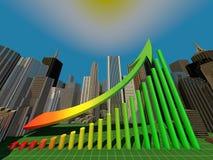 Ontwerp van bedrijfs financiële grafisch Royalty-vrije Stock Afbeeldingen