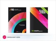 Ontwerp van bedrijfs vectormalplaatje, brochure Stock Fotografie