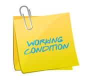Ontwerp van de arbeidsvoorwaarden het postillustratie Royalty-vrije Stock Afbeeldingen