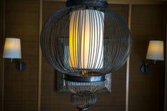 Ontwerp van de art deco sluit het binnenlandse lamp, omhoog mening stock fotografie