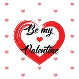Ontwerp van de de Dag het Creatieve Liefde van Valentine ` s Stock Afbeelding