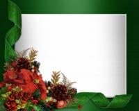 Ontwerp van de de grens het elegante hoek van Kerstmis vector illustratie