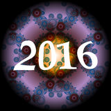 ontwerp van de de groetkaart van 2016 het creatieve Stock Fotografie