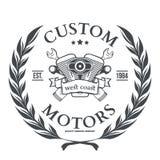 Ontwerp van de de t-shirtdruk van de douanemotor het vector Royalty-vrije Stock Fotografie