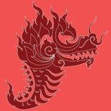 Ontwerp van de draak het hoofdtatoegering Stock Foto