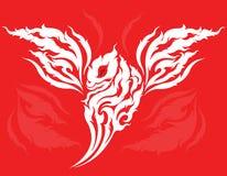 Ontwerp van de draak het hoofdtatoegering Royalty-vrije Stock Afbeeldingen