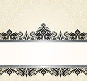 Ontwerp van de Ecru het bleke en zwarte uitstekende uitnodiging Royalty-vrije Stock Fotografie