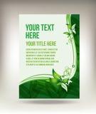 Ontwerp van de het bladvlieger van Eco het groene stock illustratie