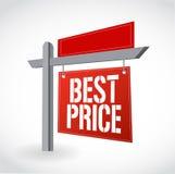 Ontwerp van de het tekenillustratie van de onroerende goederenhet beste prijs royalty-vrije illustratie