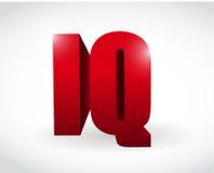 Ontwerp van de het woordillustratie van de IQ 3d tekst Royalty-vrije Stock Fotografie