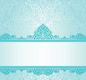 Ontwerp van de huwelijks het uitstekende Turkooise uitnodiging Stock Afbeeldingen