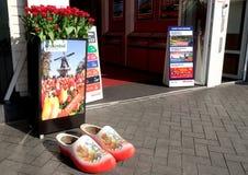 Ontwerp van de ingang aan het reisbureau in Amsterdam Stock Afbeeldingen
