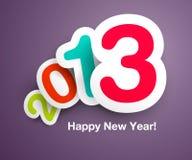 Ontwerp van de Kaart van het nieuwjaar `s het Vector Royalty-vrije Stock Foto's