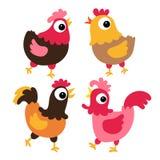 Ontwerp van de kippen het vectorinzameling stock illustratie