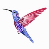 Ontwerp van de kolibrie het vectorillustratie royalty-vrije illustratie