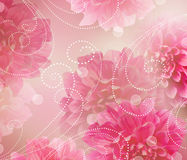 Ontwerp van de Kunst van bloemen het Abstracte. Bloemen Achtergrond Stock Afbeeldingen