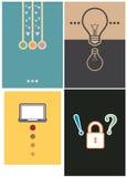 Ontwerp 4 van de lay-outdekking type stock illustratie