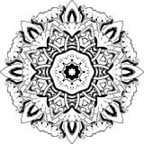Ontwerp van de Mandala het etnische Indische illustratie Stock Foto