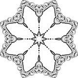 Ontwerp van de Mandala het etnische Indische illustratie Royalty-vrije Stock Afbeeldingen