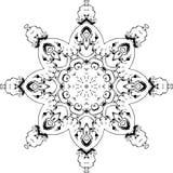 Ontwerp van de Mandala het etnische Indische illustratie Stock Afbeeldingen