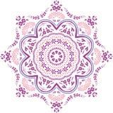 Ontwerp van de Mandala het etnische Indische illustratie Stock Afbeelding
