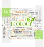 de op ecologie betrekking hebbende illustratie van de markeringswolk Royalty-vrije Stock Fotografie