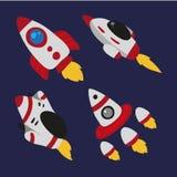 Ontwerp van de raket het vectorinzameling royalty-vrije illustratie