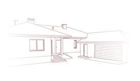 Ontwerp van een huis Stock Afbeelding