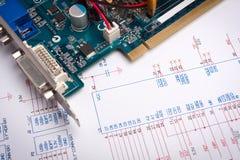 Ontwerp van elektronisch project stock fotografie