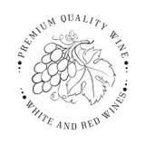 Ontwerp van embleem voor wijn Stock Fotografie