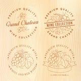 Ontwerp van embleem voor wijn Royalty-vrije Stock Afbeelding