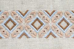 Ontwerp van etnisch ornament Borduurwerktextuur royalty-vrije stock foto